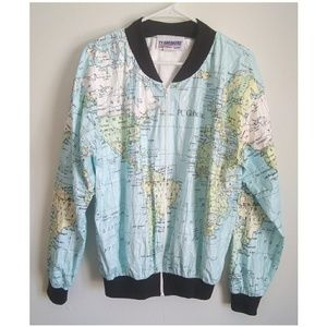 Other - Vintage Tyvek Map Of The World Jacket